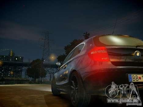 BMW 120i pour GTA 4 est une vue de dessous