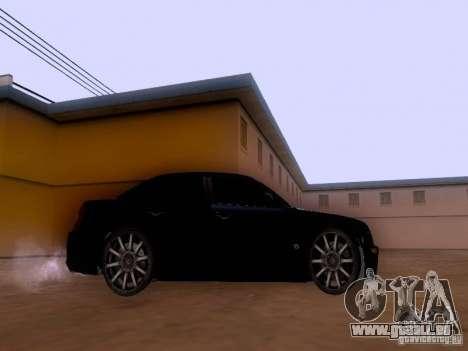 Chrysler 300C SRT8 2007 pour GTA San Andreas sur la vue arrière gauche