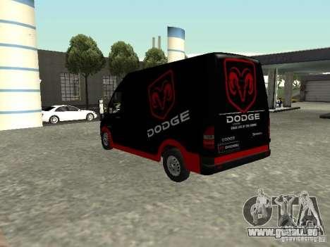 Dodge Sprinter Van 2500 für GTA San Andreas linke Ansicht