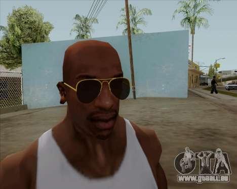Lunettes de soleil aviateur marron pour GTA San Andreas quatrième écran