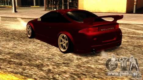 Mitsubishi Eclipse 1998 pour GTA San Andreas sur la vue arrière gauche