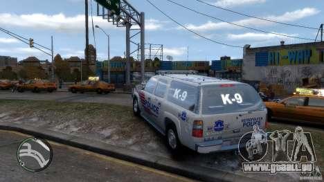Chevrolet Suburban 2006 Police K9 UNIT für GTA 4 hinten links Ansicht