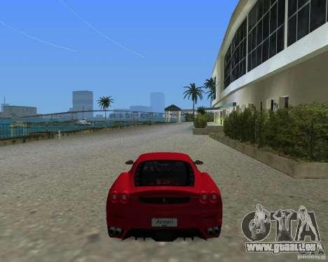 Ferrari F430 pour une vue GTA Vice City de la gauche