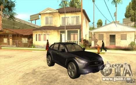 Infiniti FX50 Beta pour GTA San Andreas vue arrière