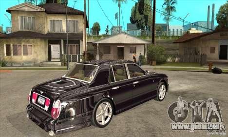 Bentley Arnage T pour GTA San Andreas vue arrière