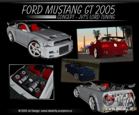 Ford Mustang GT 2005 Concept JVT LORD TUNING für GTA San Andreas Innenansicht