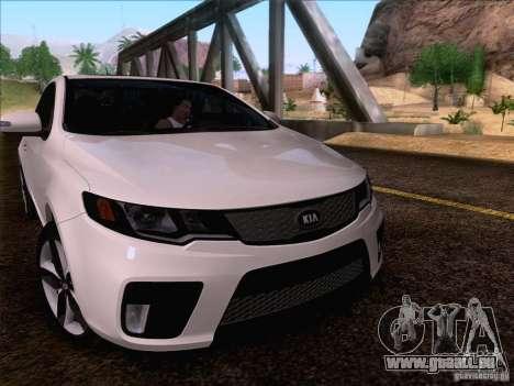 Kia Forte Koup SX für GTA San Andreas obere Ansicht