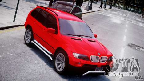 BMW X5 E53 v1.3 pour GTA 4 vue de dessus