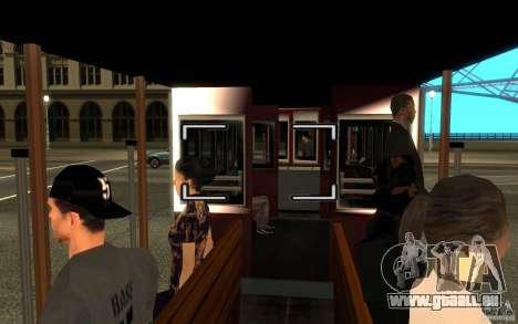 Enterable Tram v1.2 für GTA San Andreas linke Ansicht