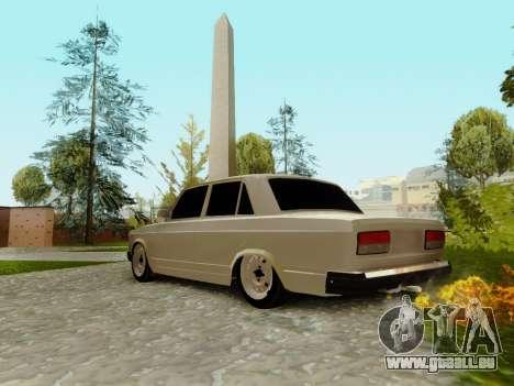 VAZ 2107 für GTA San Andreas obere Ansicht