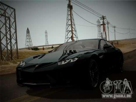 Lamborghini Estoque Concept 2008 pour GTA San Andreas laissé vue