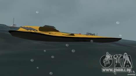 X-87 Offshore Racer pour une vue GTA Vice City de la gauche