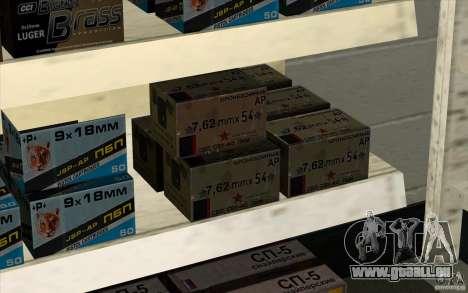 Boutique d'armes S. T. A. L. k. e. R pour GTA San Andreas cinquième écran