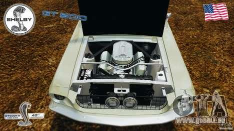 Shelby GT 500 pour GTA 4 est une vue de l'intérieur