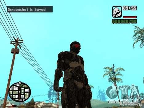 Crysis Nano Suit pour GTA San Andreas troisième écran
