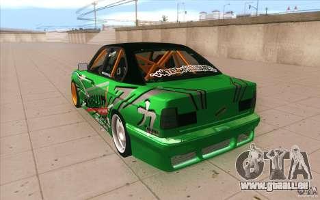 BMW E34 V8 Wide Body pour GTA San Andreas sur la vue arrière gauche