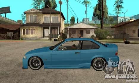 BMW M3 HAMMAN pour GTA San Andreas laissé vue