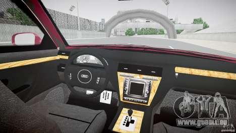 Audi A8 6.0 W12 Quattro (D2) 2002 pour GTA 4 est un droit