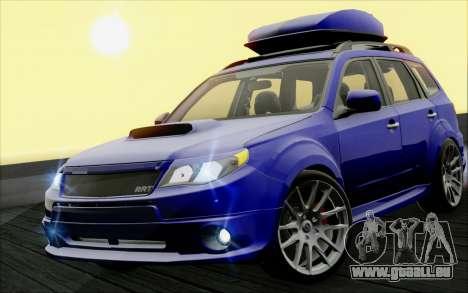 Subaru Forester RRT sport 2008 pour GTA San Andreas vue intérieure