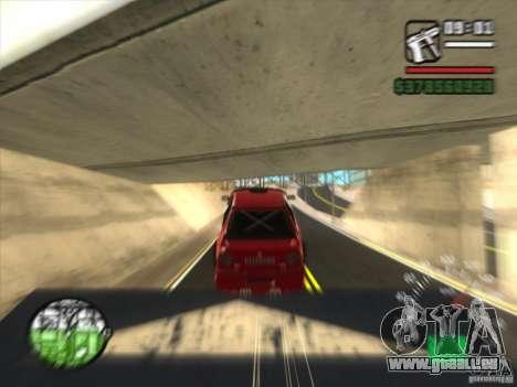 BMW 535 avec otpadnym tuning pour GTA San Andreas sur la vue arrière gauche