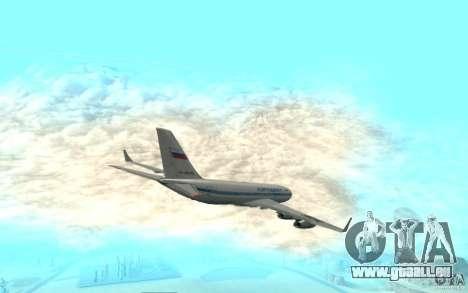 Iljuschin Il-96 für GTA San Andreas zurück linke Ansicht