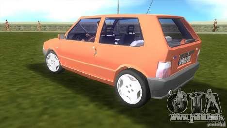 Fiat Uno pour une vue GTA Vice City de la gauche