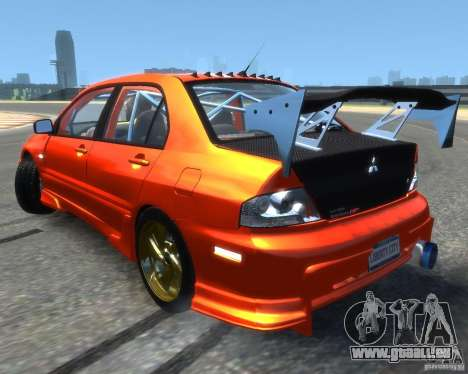 Mitsubishi Lancer Evolution IX MR für GTA 4 linke Ansicht
