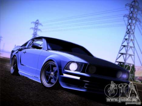 Ford Mustang GT 2005 pour GTA San Andreas vue intérieure