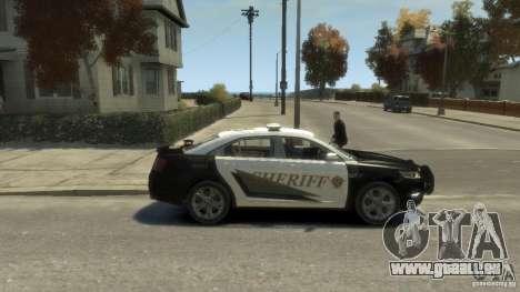 Ford Taurus Sheriff 2010 für GTA 4 hinten links Ansicht