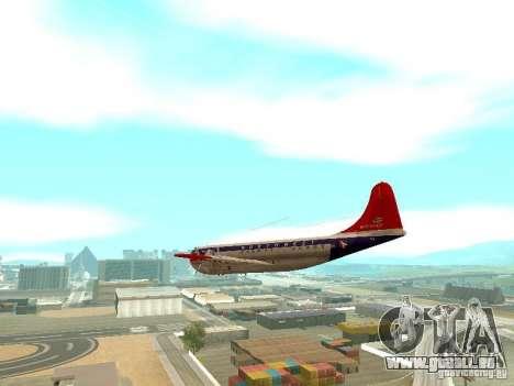 Boeing 377 Stratocruiser pour GTA San Andreas vue de droite