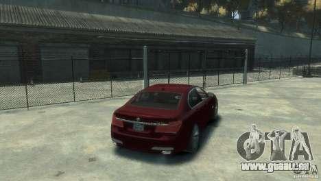 BMW 750i (F01) für GTA 4 hinten links Ansicht