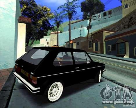 Volkswagen Golf MK 1 pour GTA San Andreas vue arrière