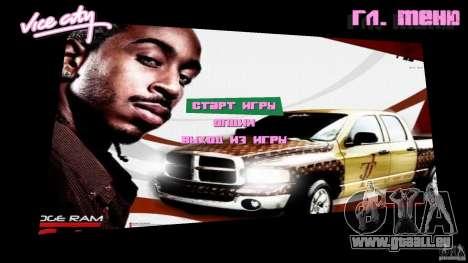 2 Fast 2 Furious Menu Ludacris pour GTA Vice City