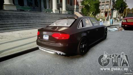 Audi S4 Unmarked [ELS] pour GTA 4 est un côté