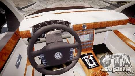 Volkswagen Phaeton W12 Long pour GTA 4 vue de dessus