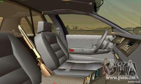 Ford Crown Victoria Masachussttss Police für GTA San Andreas zurück linke Ansicht