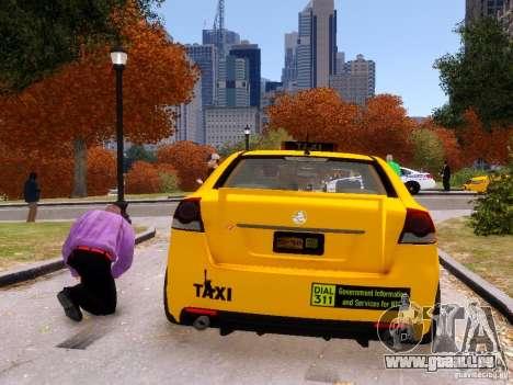 Holden NYC Taxi V.3.0 pour GTA 4 Vue arrière de la gauche
