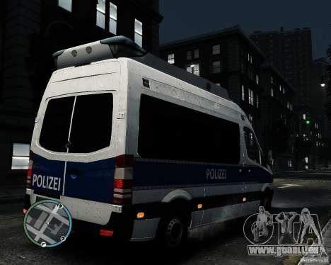 Mercedes Sprinter German Police pour GTA 4 est un droit