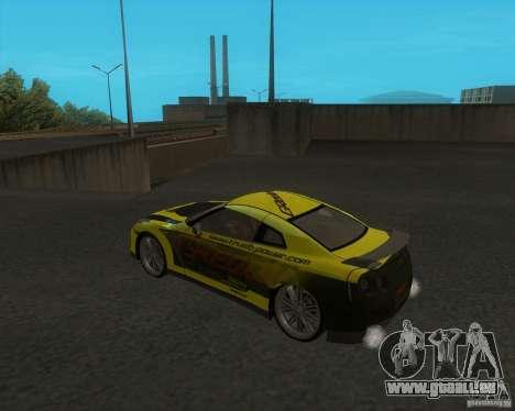 Nissan GTR35 pour GTA San Andreas laissé vue