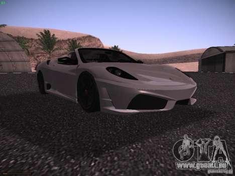 Ferrari F430 Scuderia M16 pour GTA San Andreas laissé vue