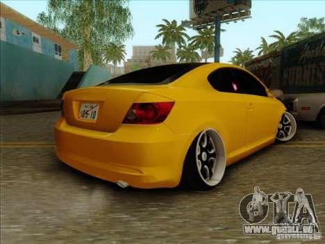 Scion tC 2012 pour GTA San Andreas laissé vue