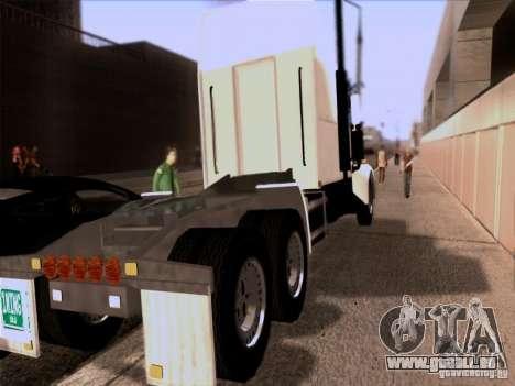 Western Star 4900EX skin 1 für GTA San Andreas zurück linke Ansicht