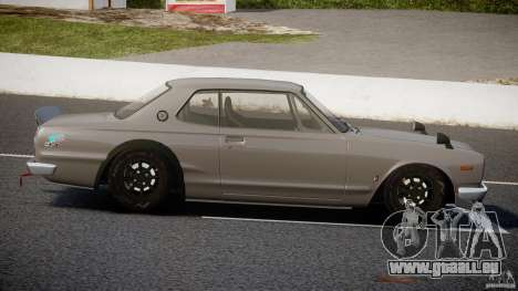 Nissan Skyline Hakosuka (KPGC10) Mountain Drift für GTA 4 Seitenansicht