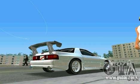 Mazda Savanna RX-7 FC3S pour GTA Vice City sur la vue arrière gauche