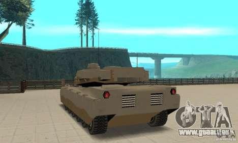 Tank Rhino nel boiteux pour GTA San Andreas sur la vue arrière gauche