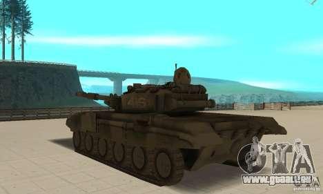 Char t-90 pour GTA San Andreas sur la vue arrière gauche