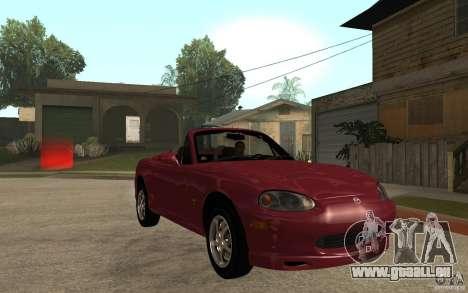 Mazda MX5 - Stock für GTA San Andreas Rückansicht