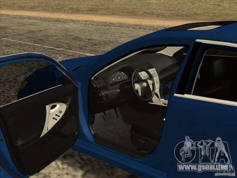 Toyota Camry für GTA San Andreas Innenansicht