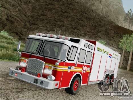 E-One F.D.N.Y Fire Rescue 1 pour GTA San Andreas vue de dessous