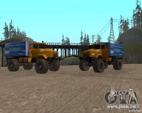 KrAZ Monster pour GTA San Andreas sur la vue arrière gauche